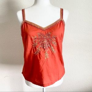Tommy Hilfiger Coral Sequin Tank Top M